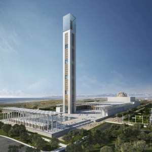 Visualisation of the great mosque in Algiers - Algeria